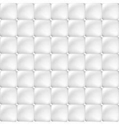 White soft upholstery texture - seamless vector