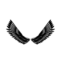 Pair of eagle wings icon simple style vector image