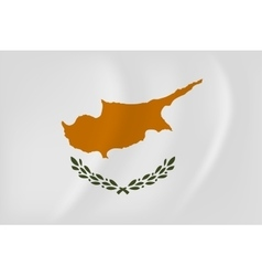 Cyprus waving flag vector