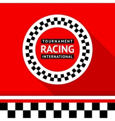 Racing badge 06 vector