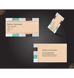 New creamy business card layout vector