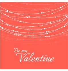 Valentines day with delicate vector
