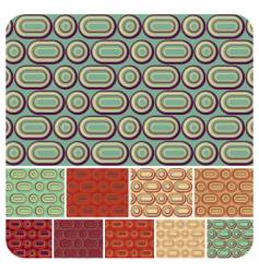 seamless retro pattern set of vector image