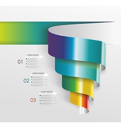 Modern design from spiral banner vector