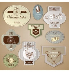 Gentleman labels set vector
