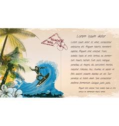 grunge summer postcard vector image