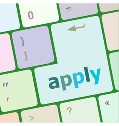 Apply online by pressing computer keyboard key to vector