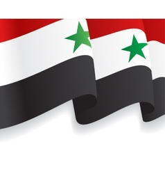 Background with waving syrian flag vector