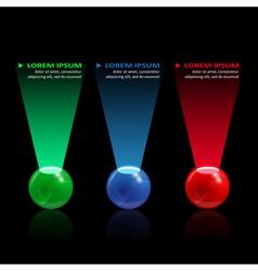 balls infographic vector image