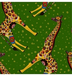 Beautiful adult giraffe hand drawn vector