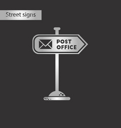 black and white style icon sign post office vector image vector image