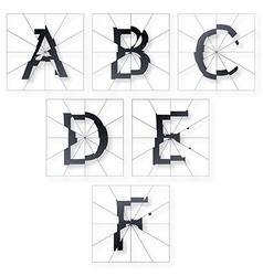 Broken Letters Alphabet vector image vector image