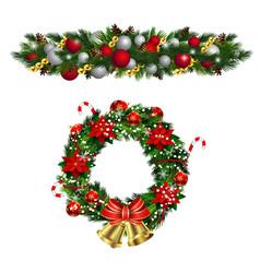 Christmas fir decoration isolated vector