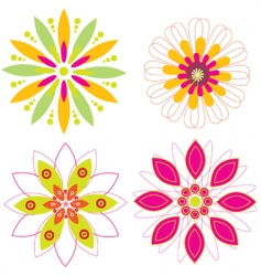 colorful floral vector vector image vector image