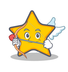 Cupid star character cartoon style vector