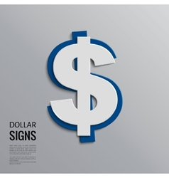 dollar sign on grey background vector image