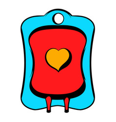 Donate blood icon icon cartoon vector