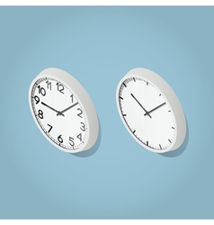 Isometric Wall Clocks vector image vector image