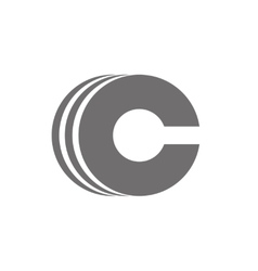 Letter C Logo Concept Icon vector image