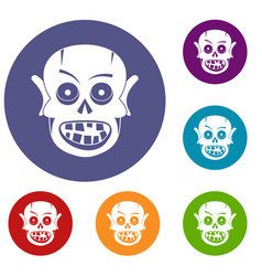 living dead icons set vector image vector image
