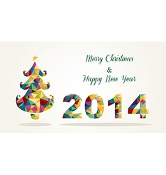 Merry Christmas and Happy New Year contemporary vector image