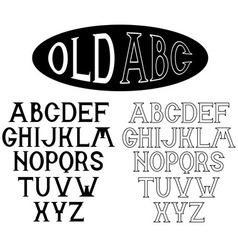old alphabet for labels vector image vector image