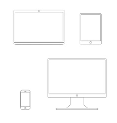 Outline gadgets icon vector image vector image