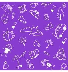 Piknik families doodle art vector