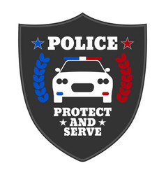 police sign elements of the police equipment vector image vector image