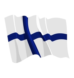 Political waving flag of finland vector