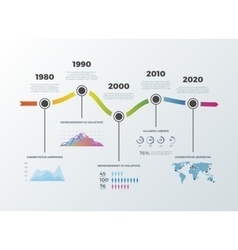 Road timeline infographic for workflow layout vector