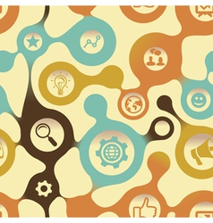 social media pattern with intenet icons vector image vector image