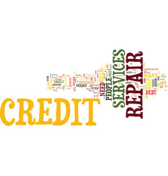 Your guide to credit repair services text vector