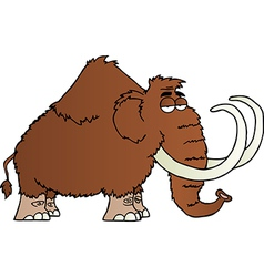 Mammoth cartoon character vector