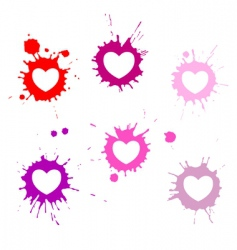 hearts blots vector image
