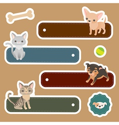 Pets label vector