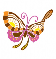 Spring love butterfly vector
