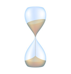 hourglass sand glass vector image