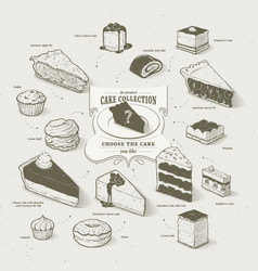 cakes collection vector image