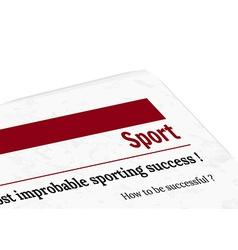 newspaper - sport vector image