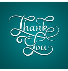 Thank you lettering calligraphy vector image