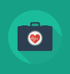 Medical flat icon first aid kit vector