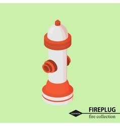 Hydrant for fire fighting isometric vector