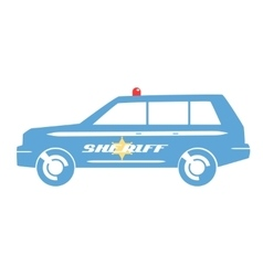 Sheriff car flat design vector