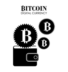 Bitcoin design vector