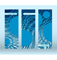 blue circles futuristic flyer vector image