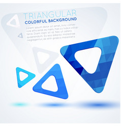 blue triangles abstract background vector image vector image