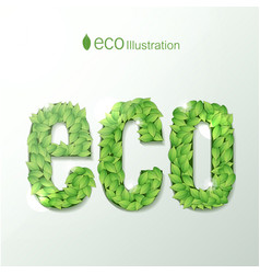 environmental with green leaves font vector image