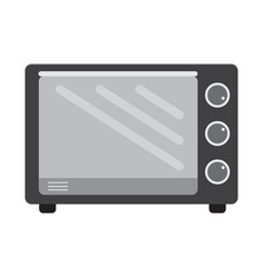 flat color oven icon vector image vector image