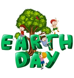 Font design with word earth day vector